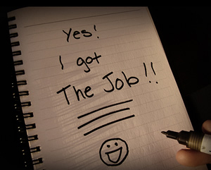 i got the job - photo by clarity25
