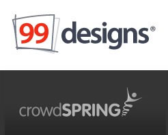 99designs and crowdspring